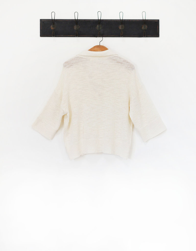 Ese O Ese OTTIE SHORT SLEEVE KNITTED TOP