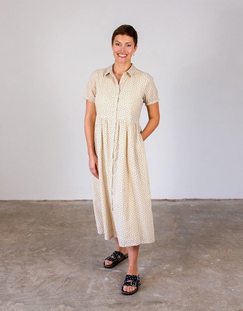 TERESA SPOTTED TEA DRESS