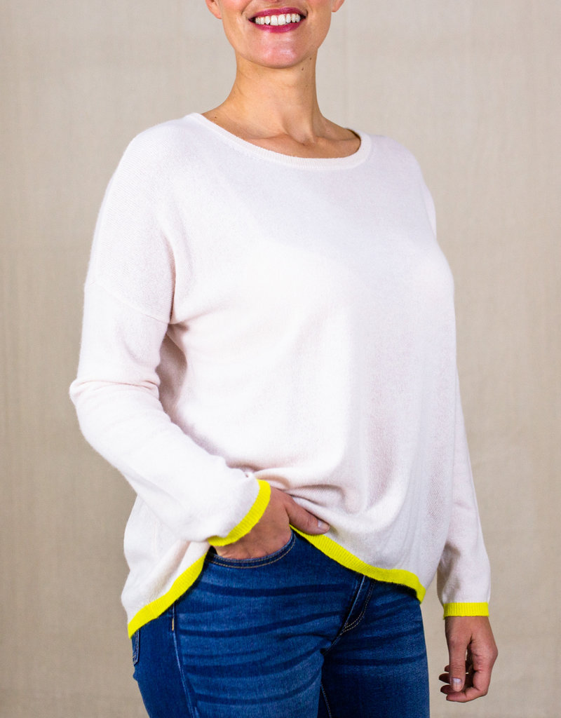 TIPPED CASHMERE SWEATER
