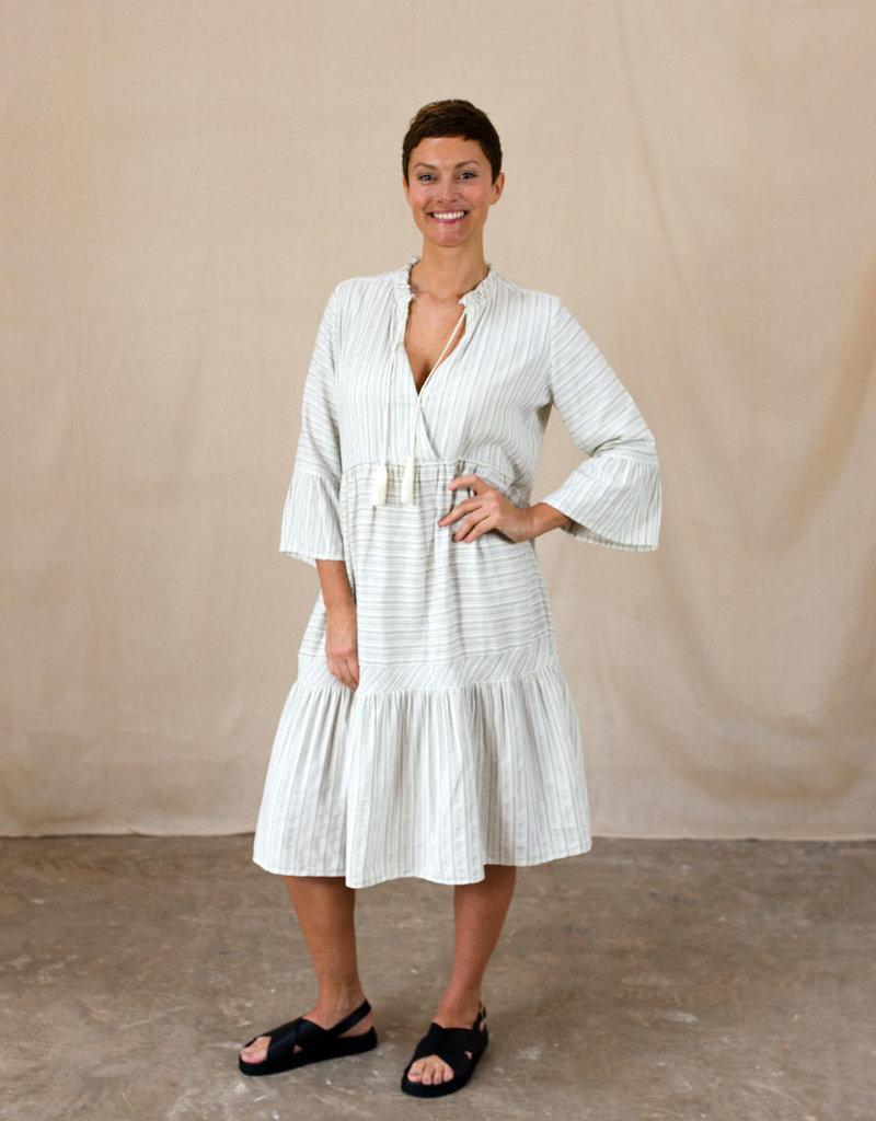 Project AJ117 LUCE STRIPE TIERED DRESS
