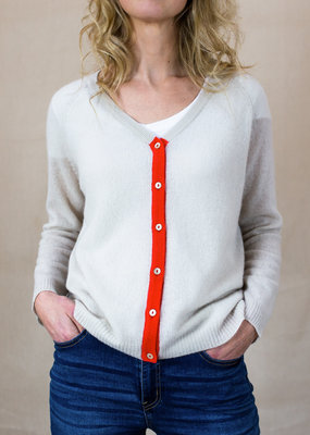 Jumper 1234 TIPPED CASHMERE CARDIGAN · Colours