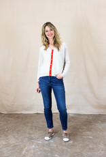 TIPPED CASHMERE CARDIGAN