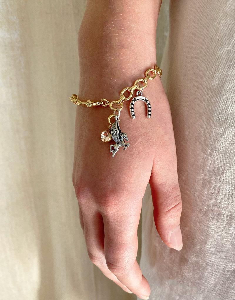 Emma Vowles GAIA GOLD GILDED CHUNKY CHARM BRACELET