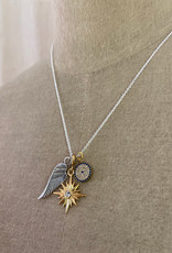 . MAIA SILVER PLATED CHARM NECKLACE