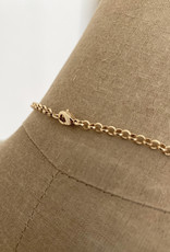 . XANTHE GOLD PLATED CHUNKY CHARM NECKLACE