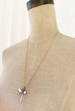 Emma Vowles IRENE GOLD GILDED CHARM NECKLACE
