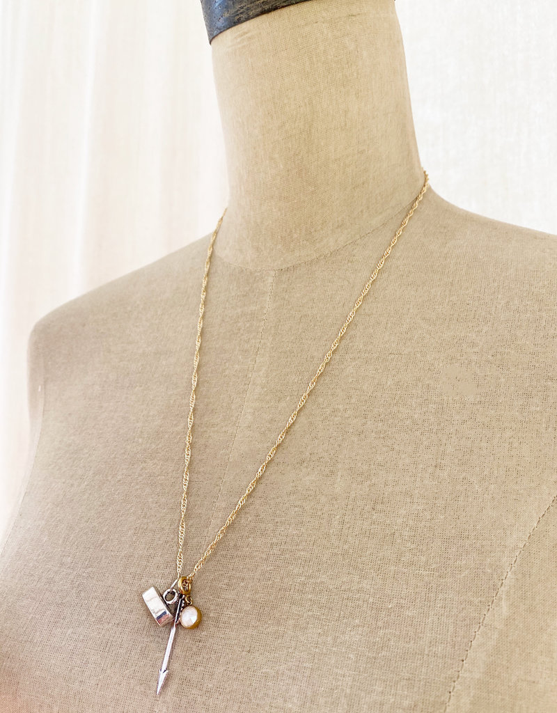 . IRENE GOLD GILDED CHARM NECKLACE
