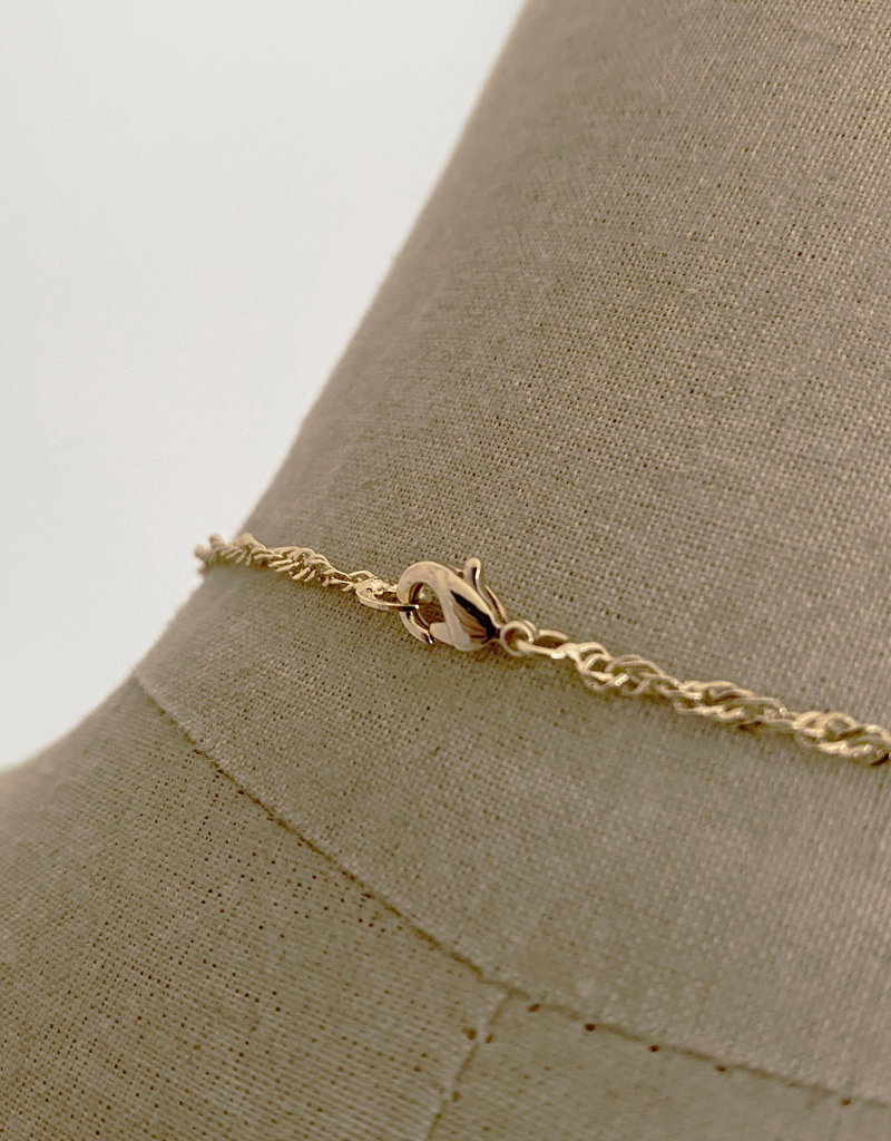 . IRENE GOLD PLATED CHARM NECKLACE