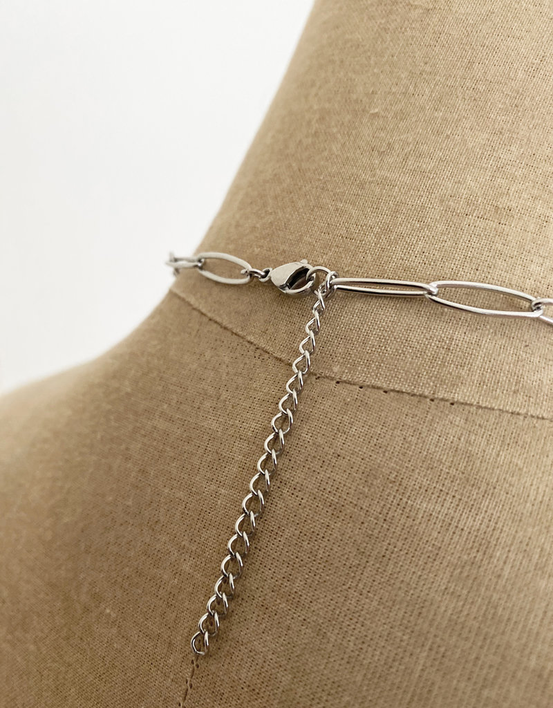 Emma Vowles THALIA SILVER PLATED CHUNKY CHARM NECKLACE