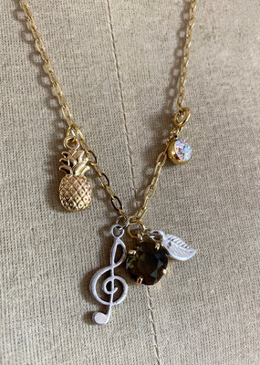 . MELODY GOLD GILDED CHARM NECKLACE