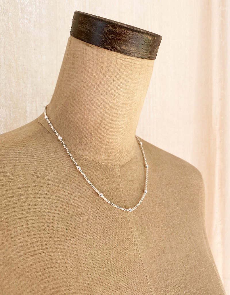 . SALA SILVER PLATED CHAIN NECKLACE