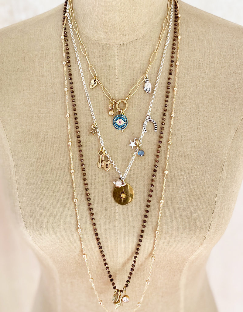 . SULA GOLD PLATED TWISTED CHAIN NECKLACE
