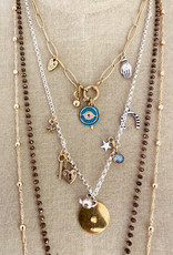 . RHEA GOLD PLATED CHUNKY CHARM NECKLACE