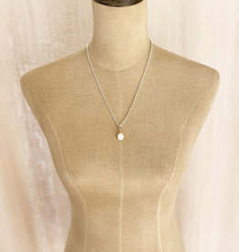Emma Vowles LYRA SILVER GILDED PEARL CHARM NECKLACE