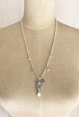 Emma Vowles SERENA SILVER PLATED CHARM NECKLACE