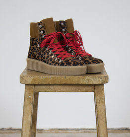 AGDA ANIMAL LACE-UP BOOTS