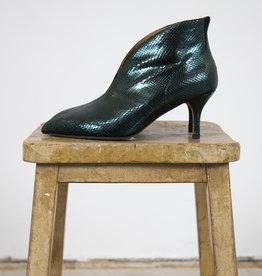 Shoe the Bear VALENTINE METALLIC LIZARD HEELED BOOTS