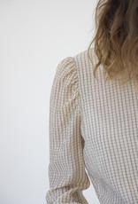 Second Female JASMIN LINEN MIX CHECK SHIRT