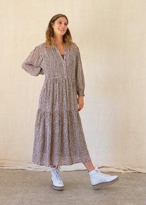 Levete Room KADIA ABSTRACT PRINT DRESS