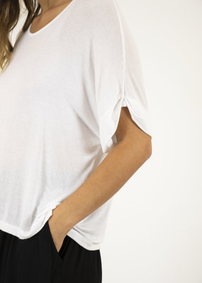 . ASTER SILK MIX SHORT SLEEVE TEE