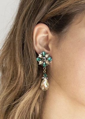 Busby & Fox ANASTASIA CRYSTAL DROP EARRINGS
