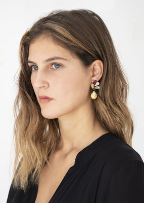 Busby & Fox CHRISTABEL CRYSTAL DROP EARRINGS