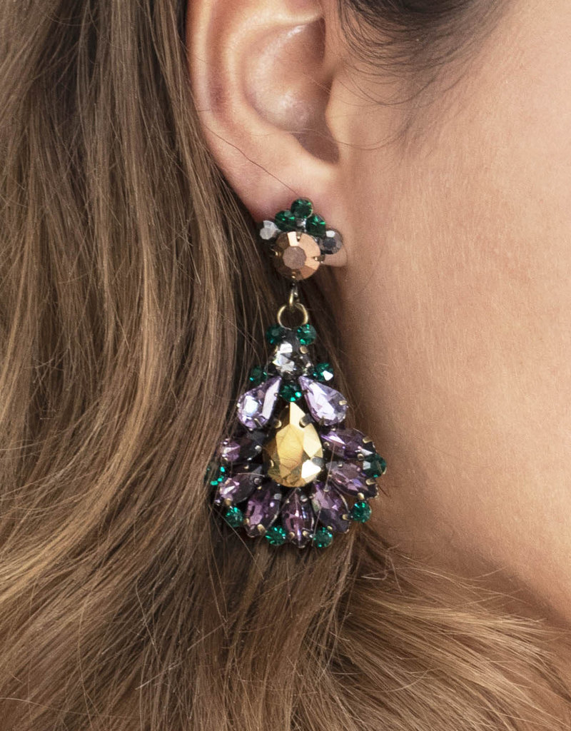 Busby & Fox BEATRICE CRYSTAL DROP EARRINGS