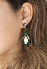 . DIANA CRYSTAL DROP EARRINGS