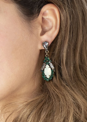 Busby & Fox DIANA CRYSTAL DROP EARRINGS