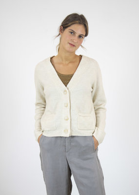 Indi & Cold JANEY RECYCLED V-NECK CARDIGAN