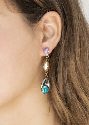 . TATIANA CRYSTAL DROP EARRINGS