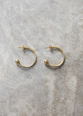 . JONI BALL STOP HOOP EARRINGS