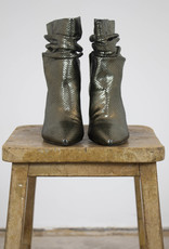 AGNETE RELAXED METALLIC BOOTS