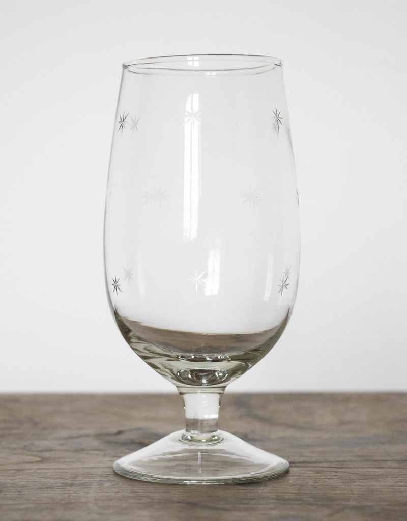 . STELLA STAR CUT WINE GLASS