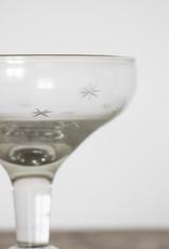 . STELLA STAR CUT GLASS CHAMPAGNE COUPE