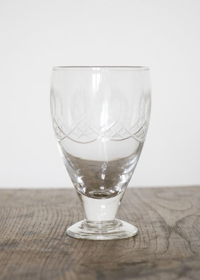 . ABBEY CUT GLASS WINE GLASS
