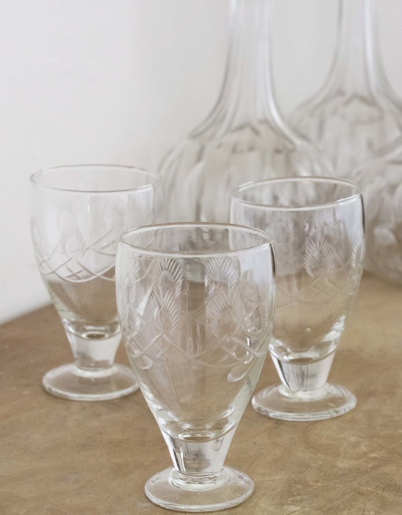 . ABBEY CUT GLASS WINE GLASS