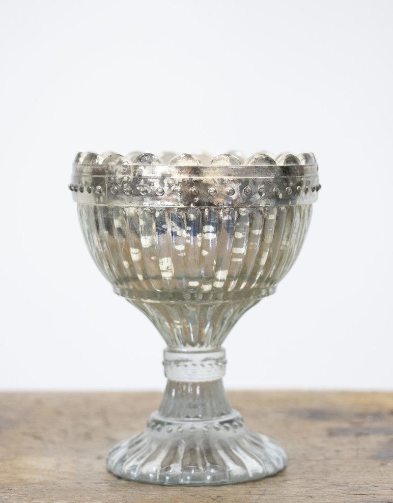 . EDWARDIA GLASS BOWL WITH FOOT