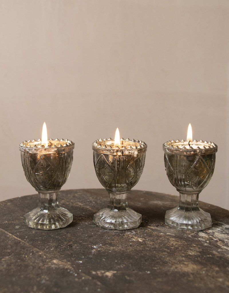 . EDWARDIA GLASS TEALIGHT HOLDER