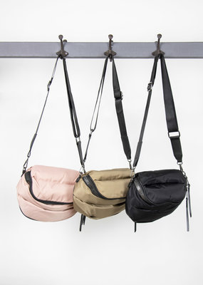 . QUILTED PUFFA CROSSBODY BAG