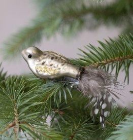 . GLASS BIRD DECORATION