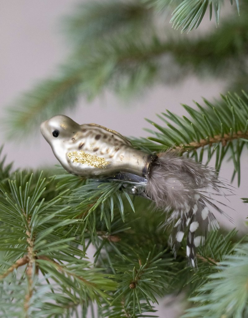 Busby & Fox GLASS BIRD DECORATION