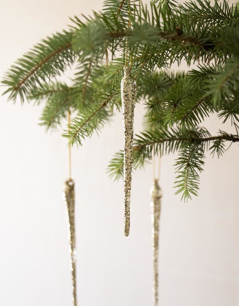 Busby & Fox GLASS ICICLE DECORATION