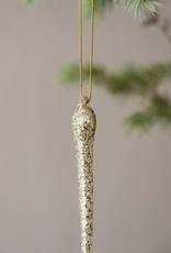 . GLASS ICICLE DECORATION