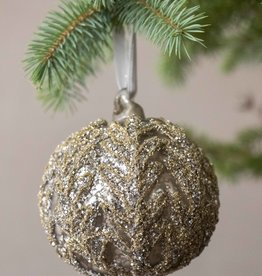Busby & Fox GLITTERY ANTIQUED GLASS BAUBLE