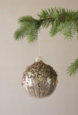Busby & Fox EMBOSSED GLITTERY GLASS BAUBLE