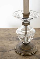 . LORA ANTIQUED GLASS CANDLESTICK