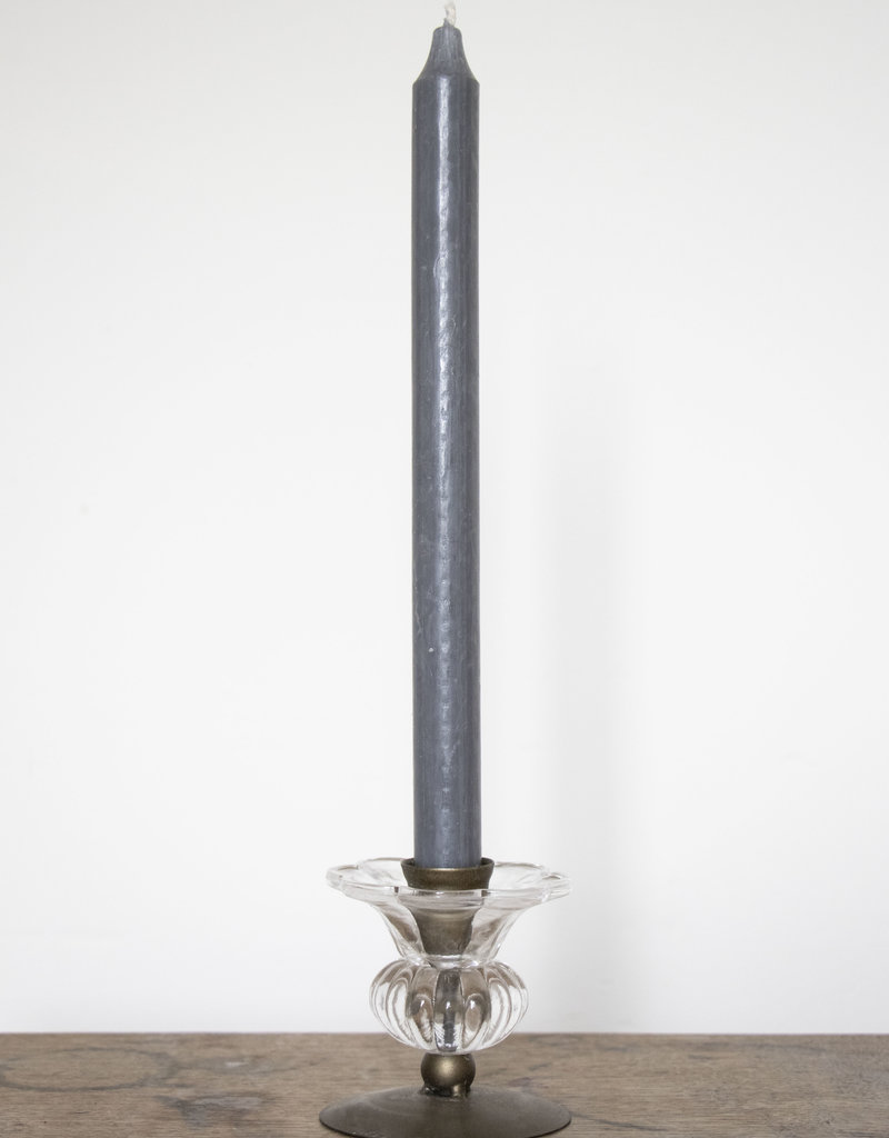 . LARA GLASS CANDLESTICK