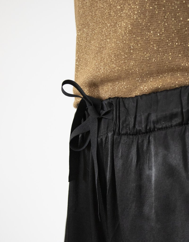 . RENEÉ TAPERED SATIN TROUSERS