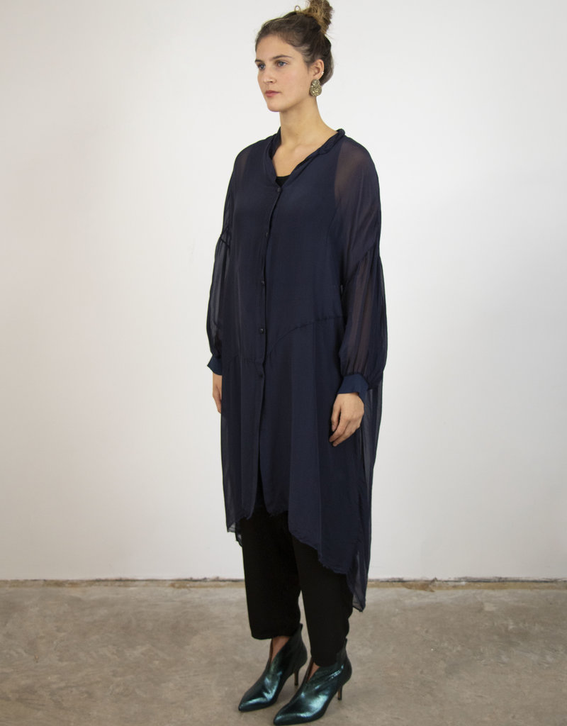 . LEA FLUID SILK-MIX TUNIC